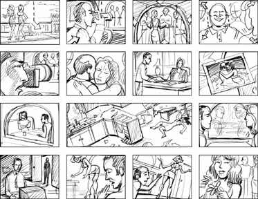 This Is A Bad Storyboard Because There Is No Writing Explaining What The  Shot Is About And There Is Nothing To Show What They Angles They Need To  Film With.